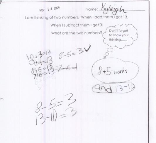 Gr 3 logic 2 answers