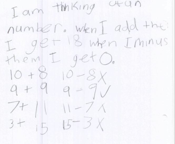 Gr 3 made problem 9+9